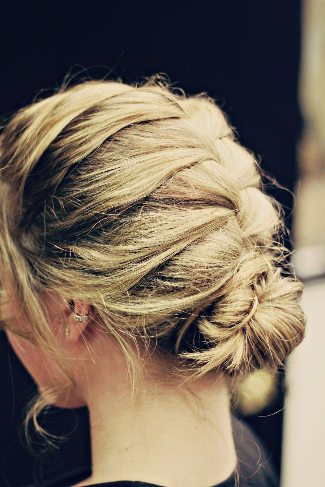 Current French Braid Buns Updo Hairstyles For Messy French Braid Bun (View 4 of 20)