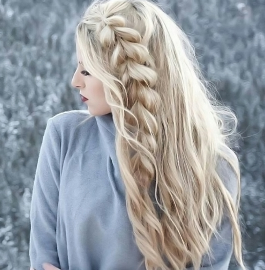 Current Long Blonde Braid Hairstyles Inside 55 Charming Long Blonde Hair Styles — Angelic Designs (View 8 of 20)
