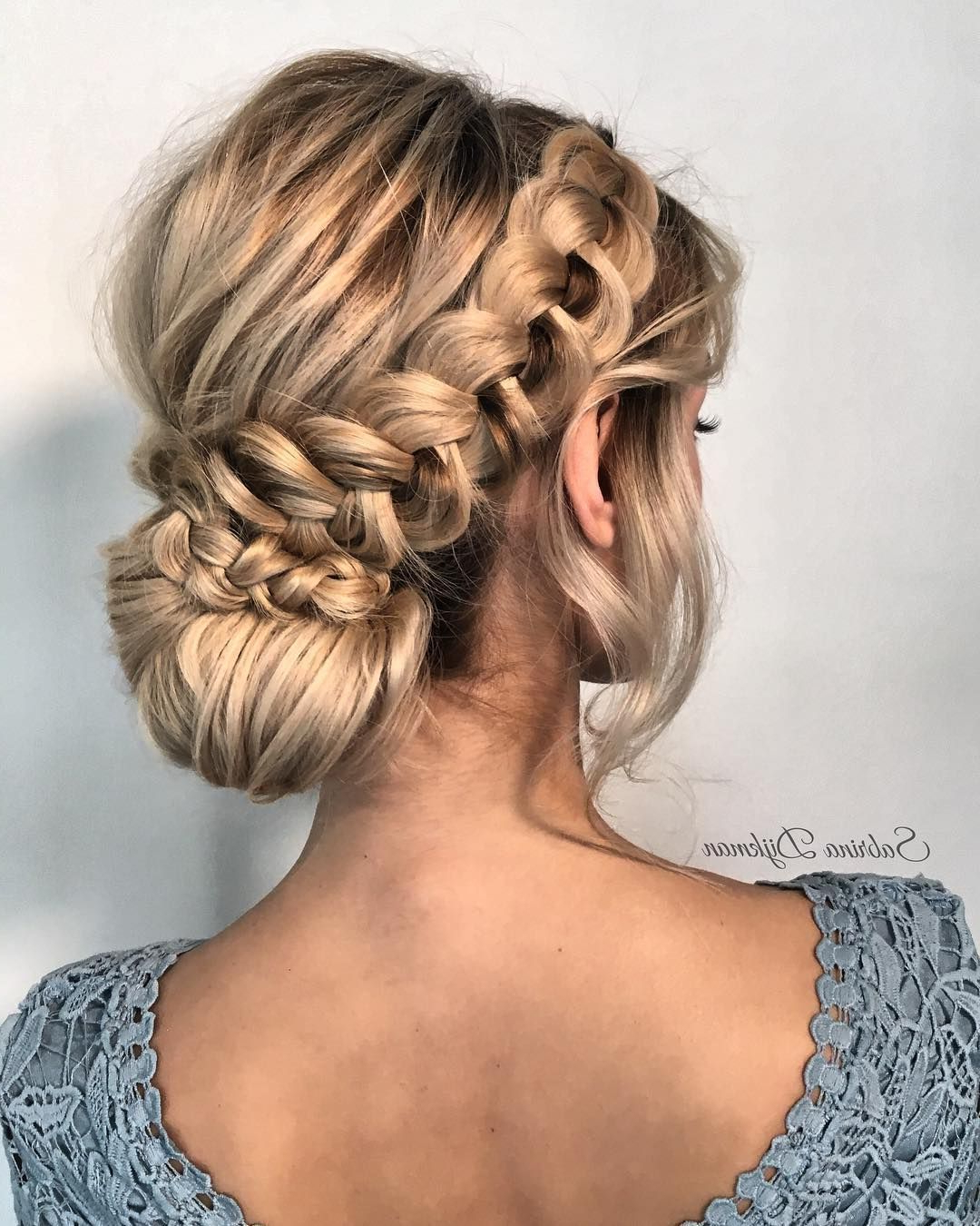 Current Messy Crown Braid Updo Hairstyles For Beautiful Wedding Braided Updo Hairstyle ,messy Updo Wedding (View 7 of 20)