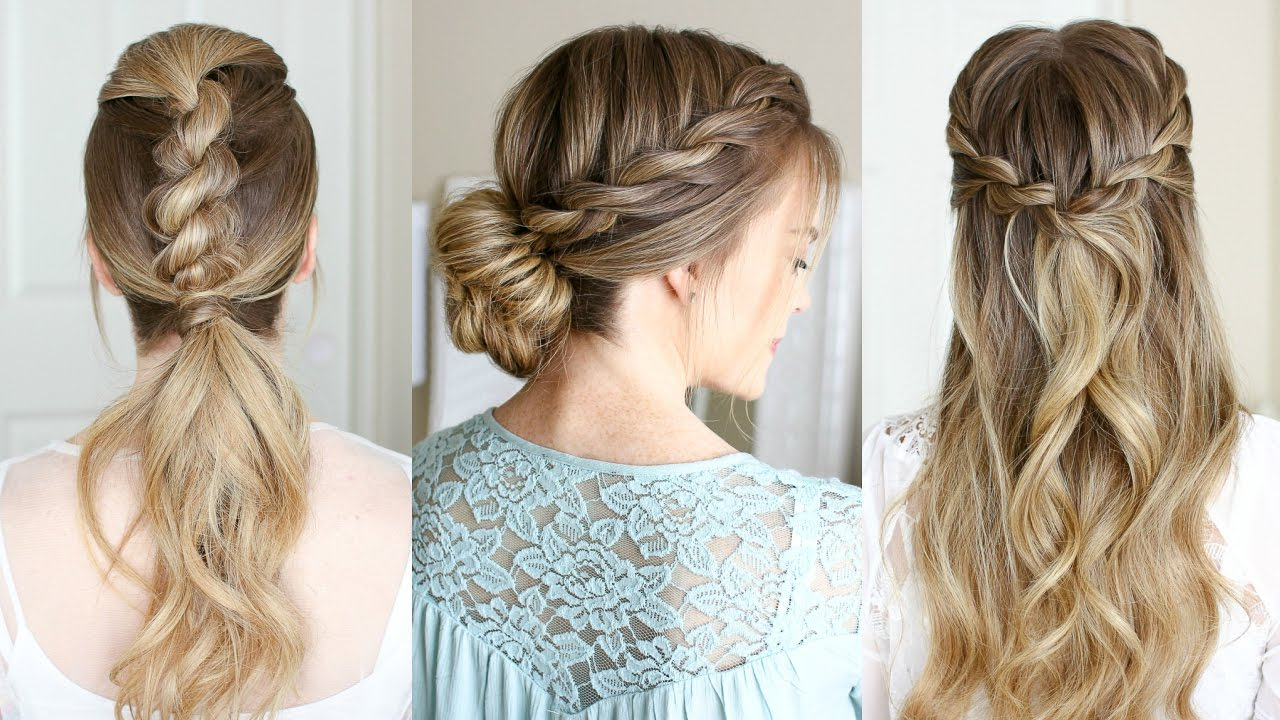 Current Messy Rope Braid Updo Hairstyles In 3 Easy Rope Braid Hairstyles (View 7 of 20)