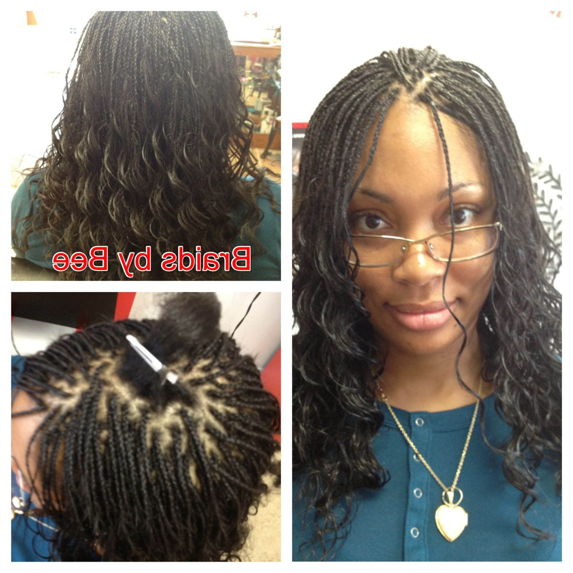 Current Micro Braid Hairstyles With Loose Curls Inside Micro Braids Hairstyles (View 5 of 20)