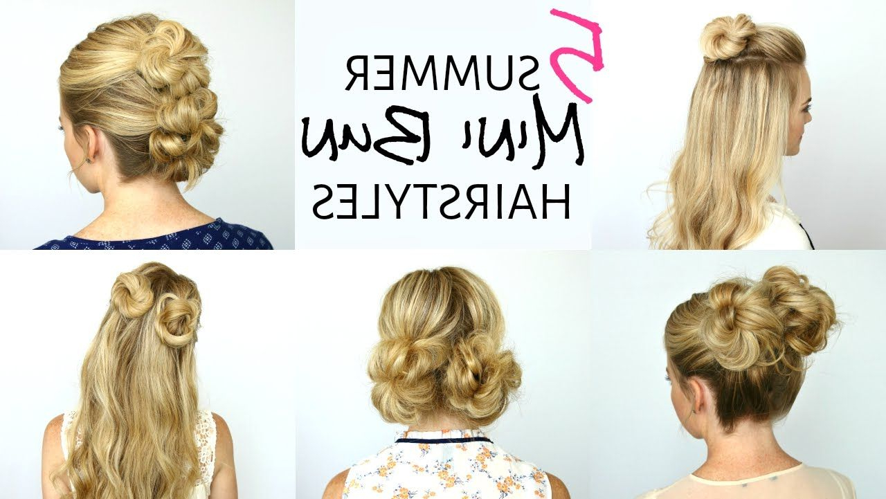 Current Mini Buns Hairstyles Pertaining To 5 Summer Mini Bun Hairstyles (View 6 of 20)
