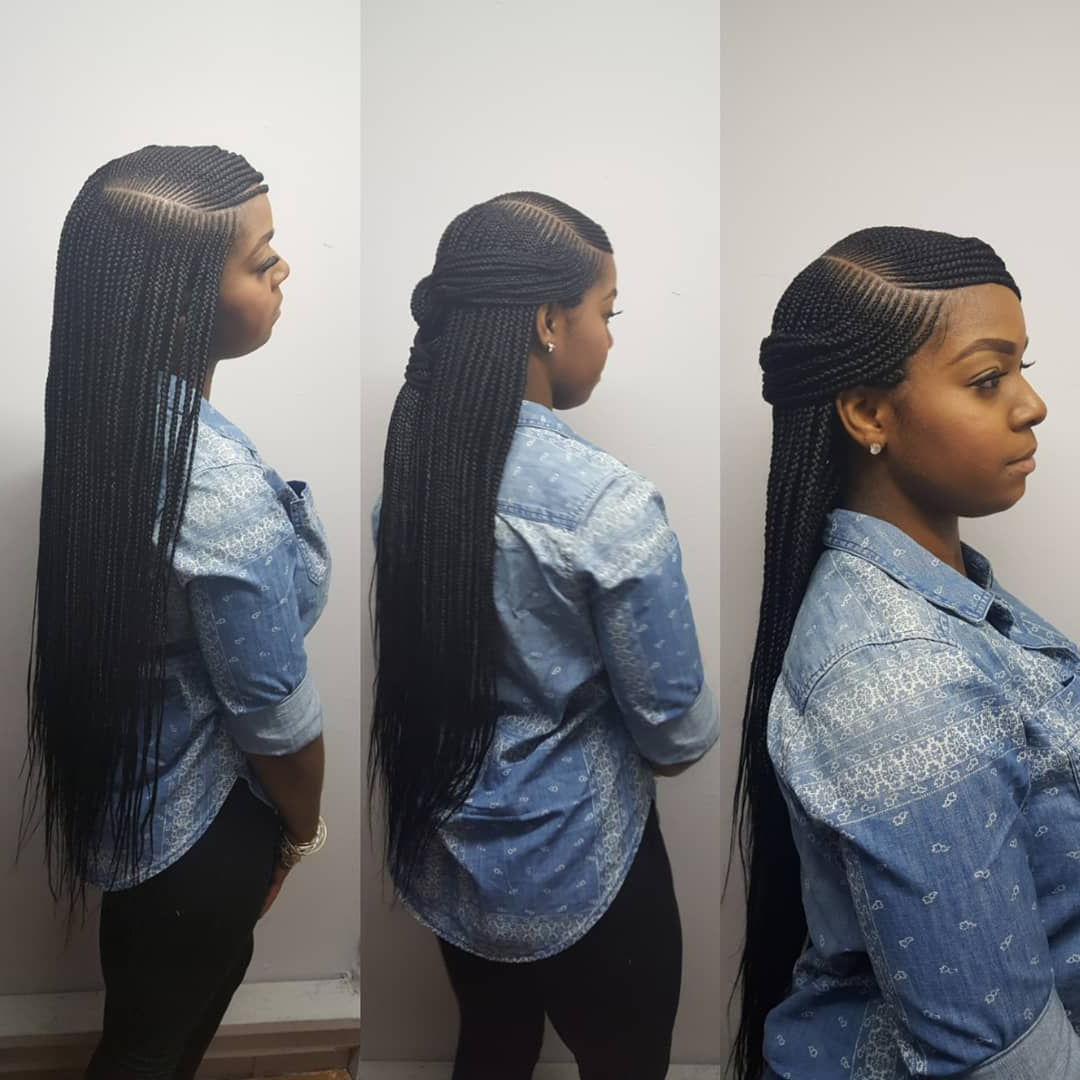 Current Side Parted Micro Twist Hairstyles With Book Appts Today Side Part Box Braids #njbraids #njbraider (View 7 of 20)