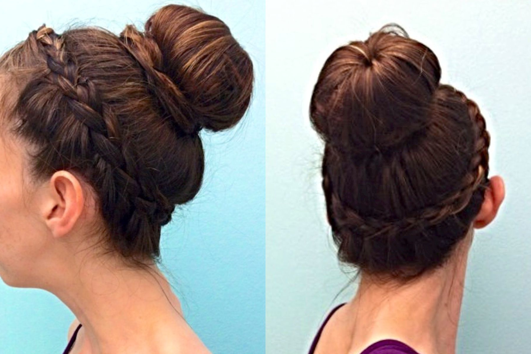 Current Side Swept Carousel Braided Hairstyles Pertaining To Bun With A Lace Braid Along My Hairline All The Way Around (View 15 of 20)