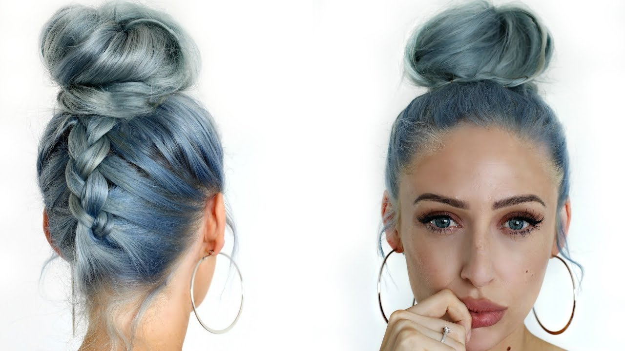 Current Topknot Ponytail Braided Hairstyles With How To: Upside Down Dutch Braid Messy Bun / Top Knot Hair Tutorial – Carly Musleh (View 10 of 20)
