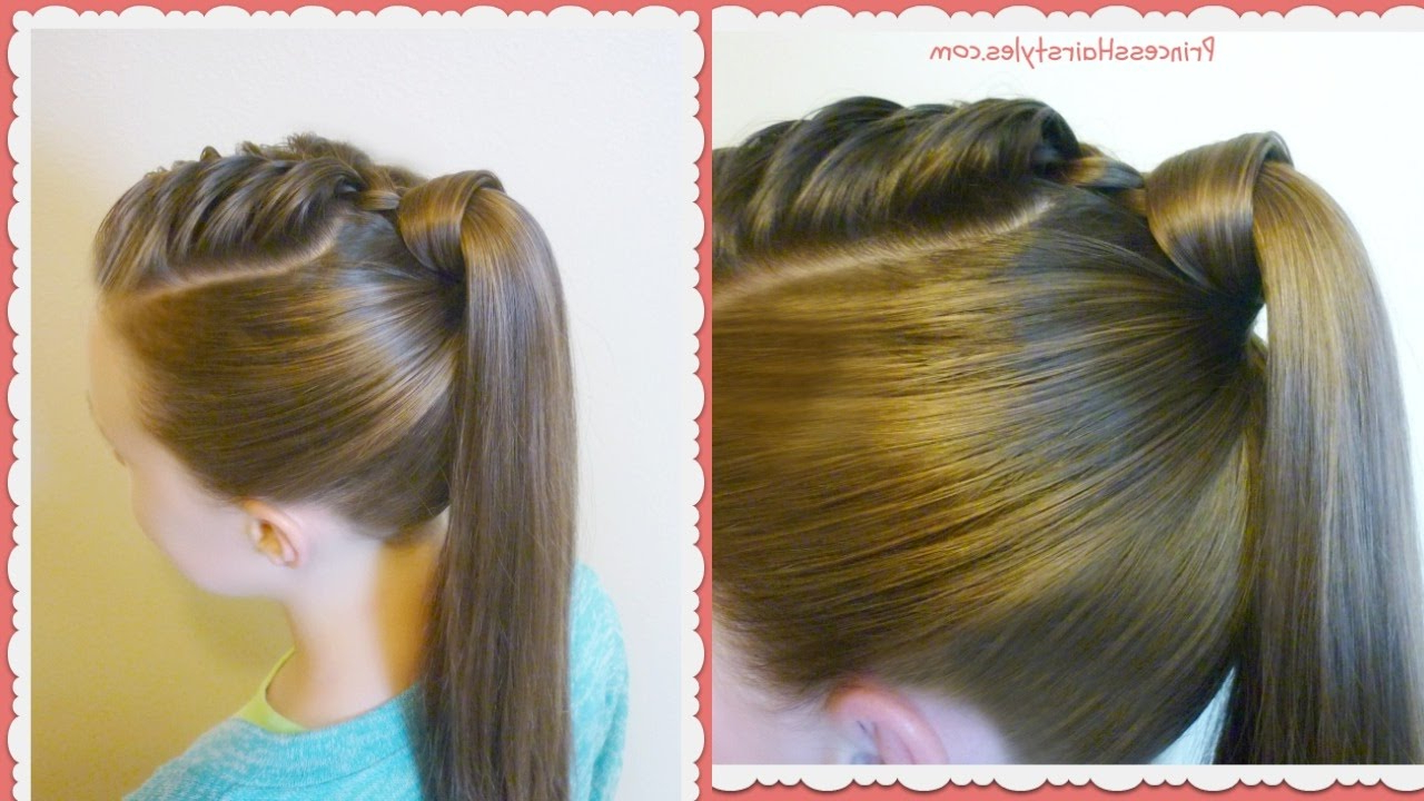 Current Wrapped Ponytail Braid Hairstyles With The Best Hair Wrapped Ponytail, Easy Hairstyle Tutorial (View 12 of 20)