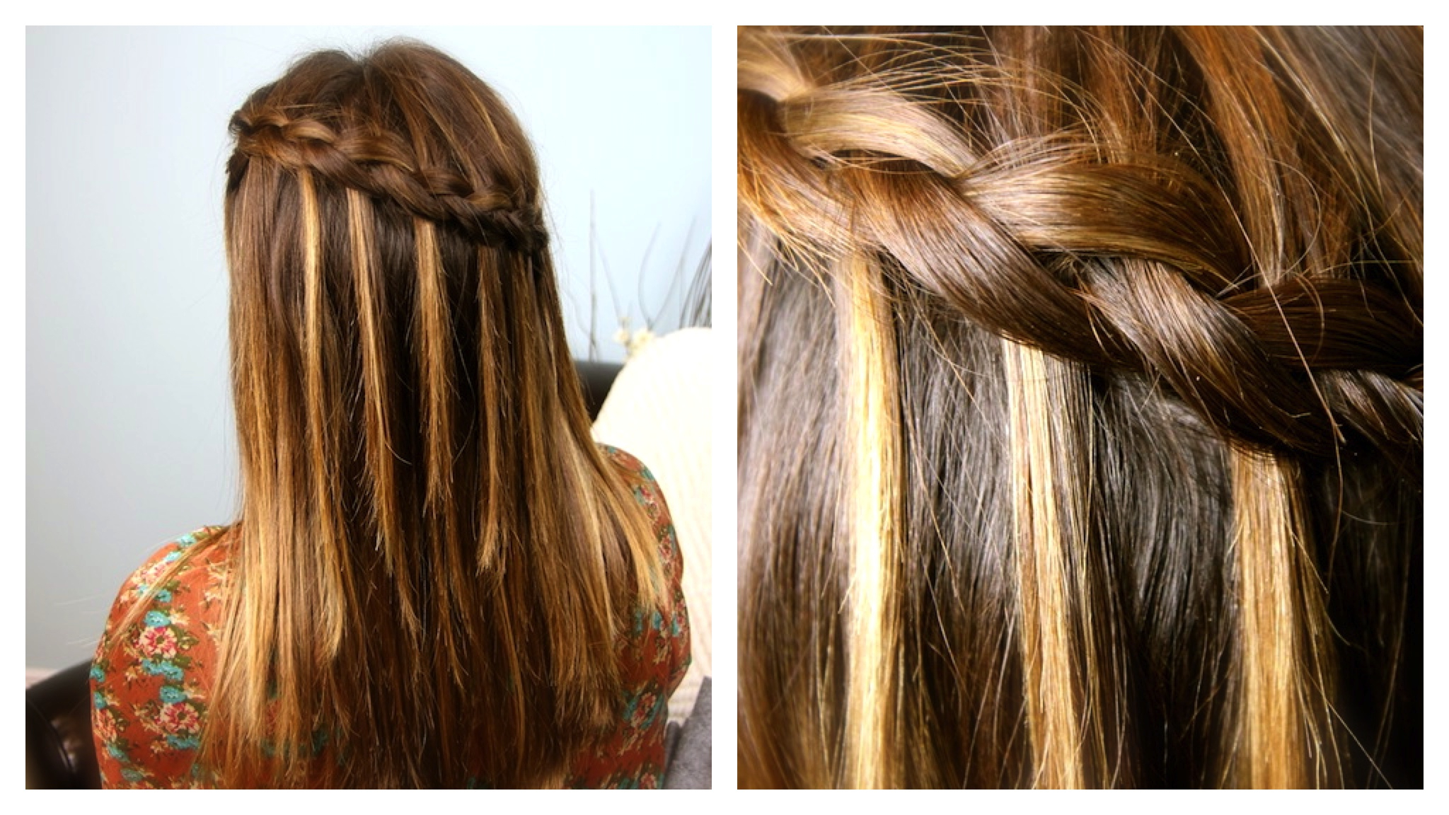 Cute Braided Inside Most Up To Date Waterfall Braids Hairstyles (View 5 of 20)