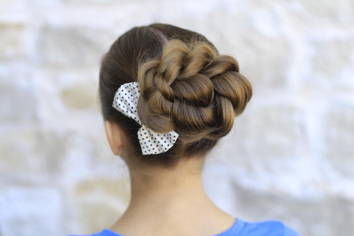 Cute Girls Hairstyles Inside Favorite Messy Rope Braid Updo Hairstyles (View 6 of 20)