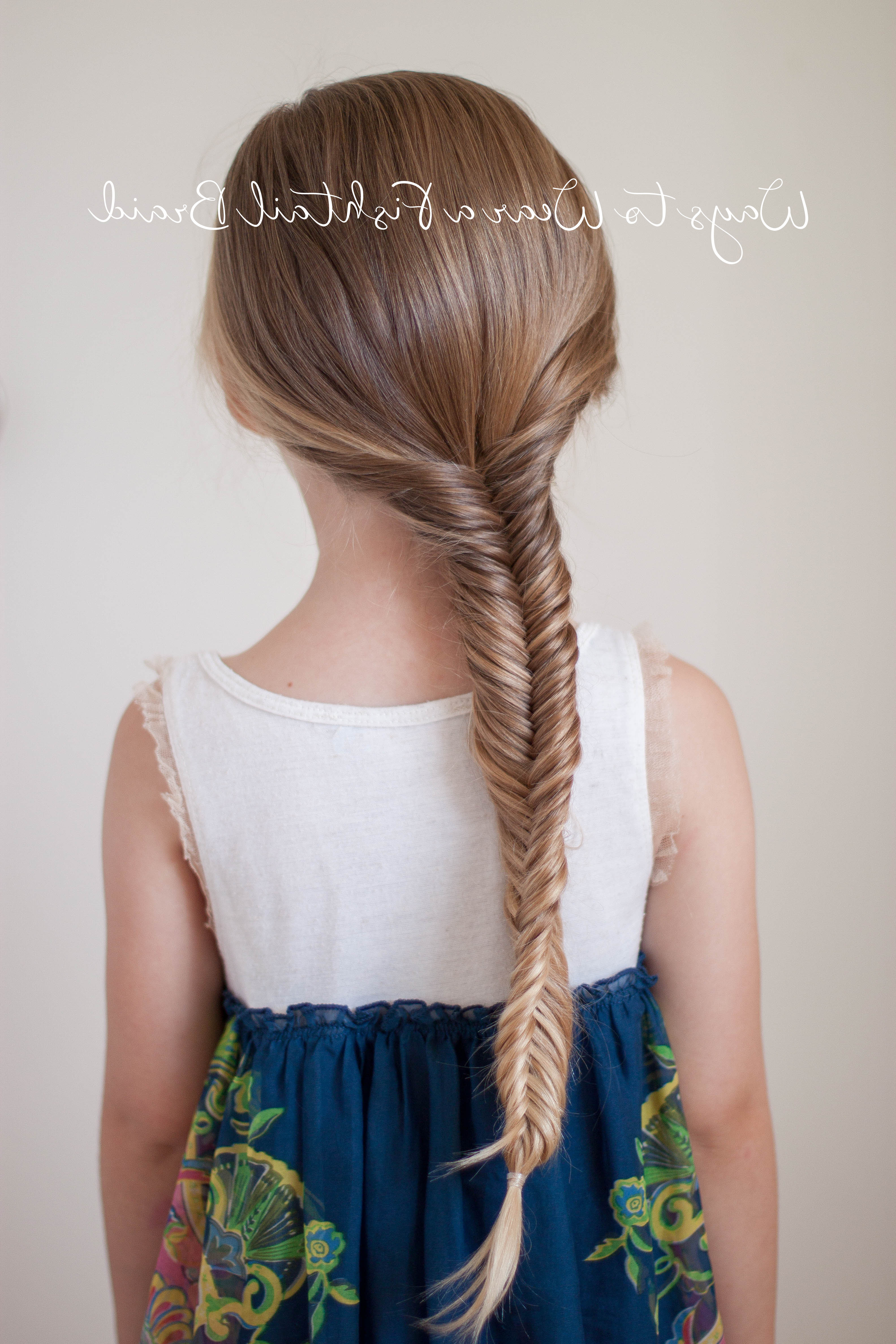 Cute Girls Hairstyles Regarding 2020 Micro Braids In Side Fishtail Braid (View 7 of 20)