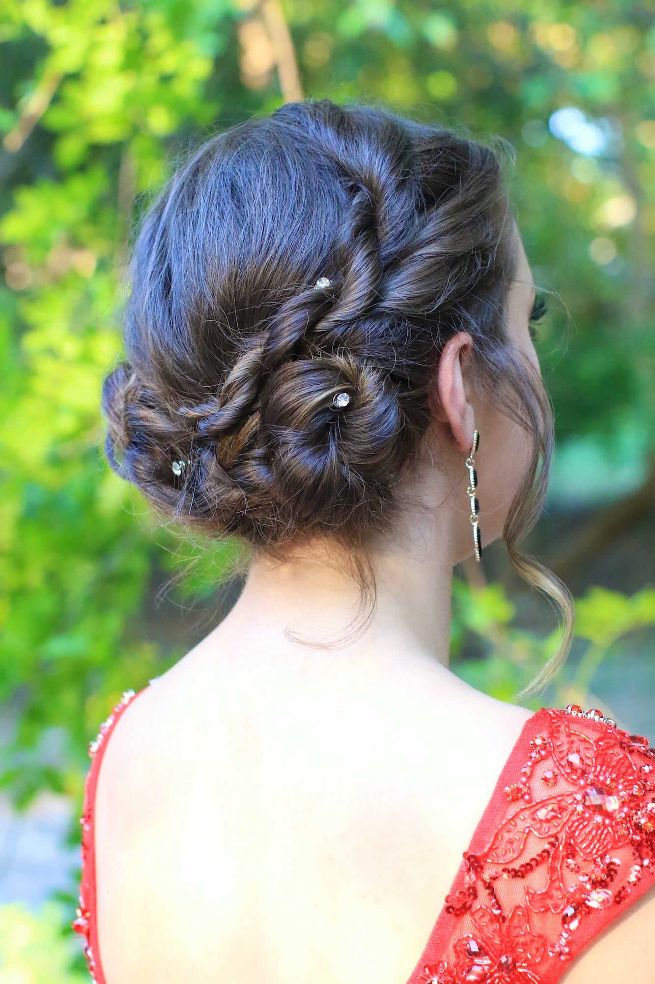 Featured Photo of Rope Twist Updo Hairstyles With Accessories