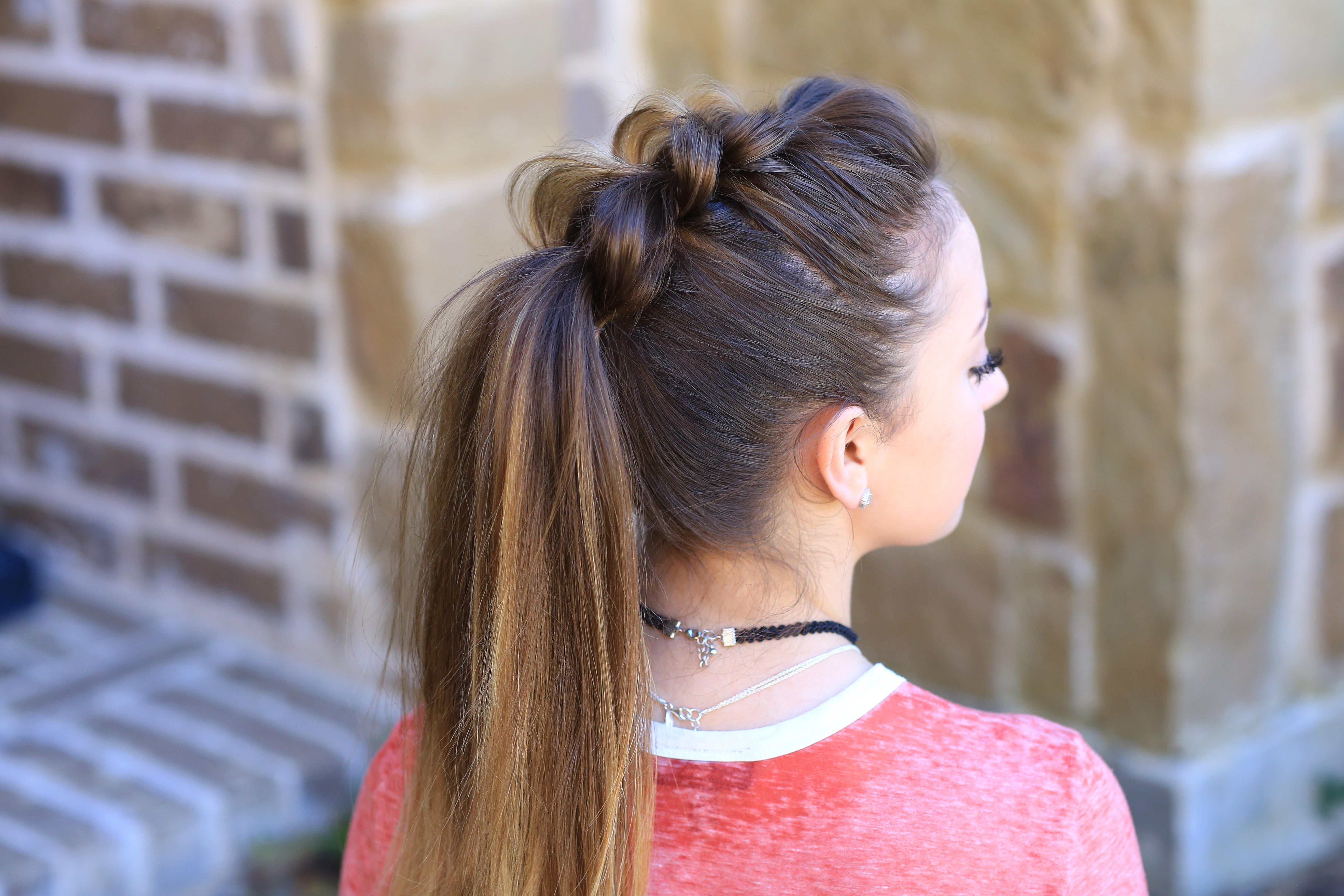 Cute Girls Hairstyles With Latest Pull Through Ponytail Updo Hairstyles (Gallery 6 of 20)