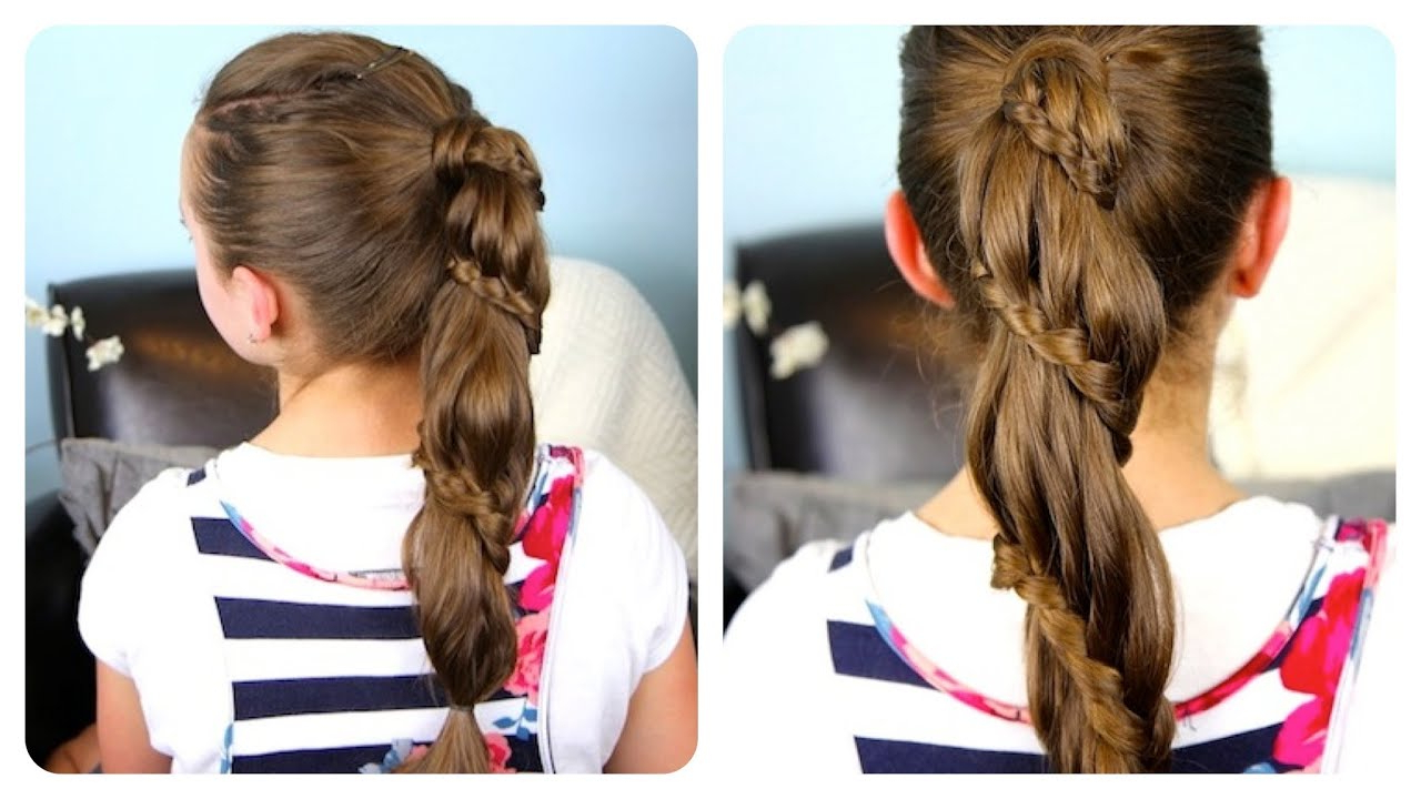 Cute Girls Hairstyles Within Most Recently Released Wrapped Ponytail Braid Hairstyles (View 2 of 20)