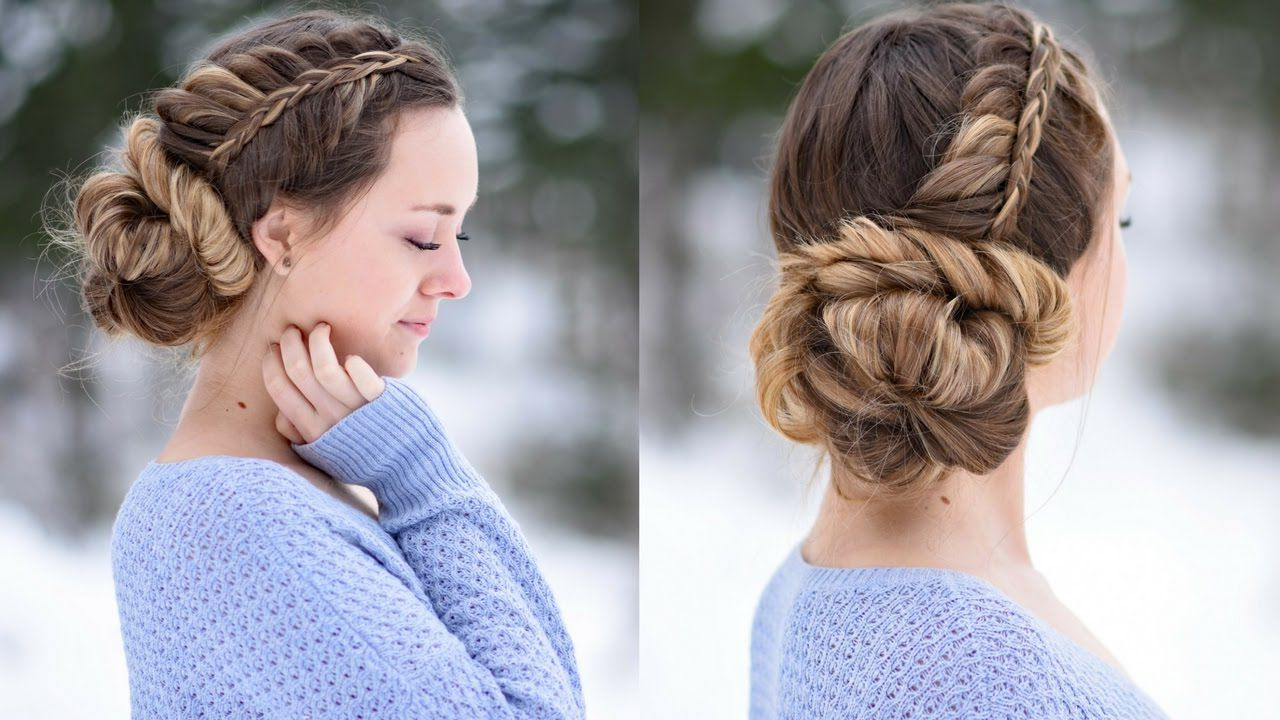Cute Girls Within Well Liked Stacked Buns Updo Hairstyles (View 4 of 20)