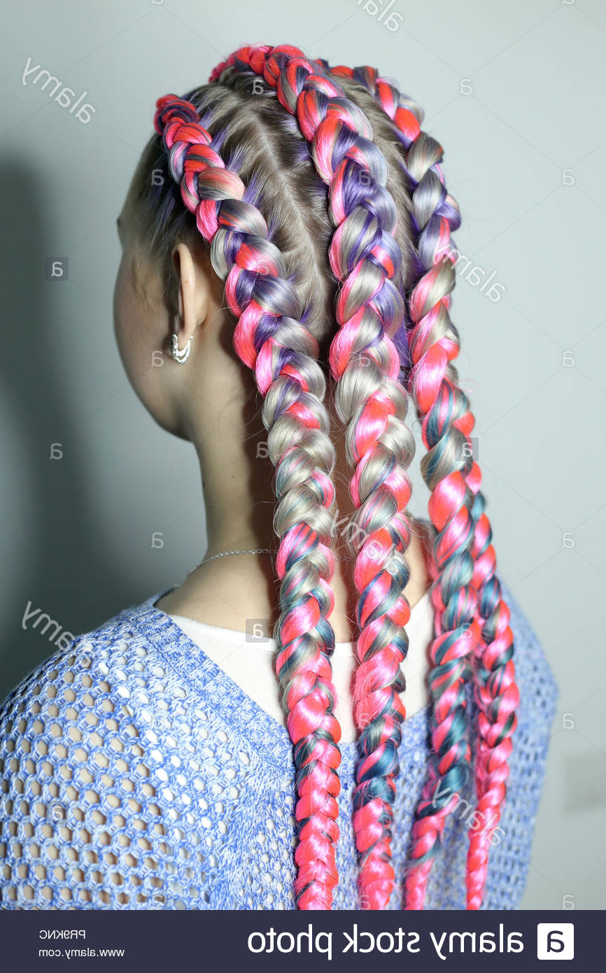 Designer Hairstyle Of Thick And Thin Braids, Youth Style Inside Fashionable Thick And Thin Braided Hairstyles (Gallery 16 of 20)