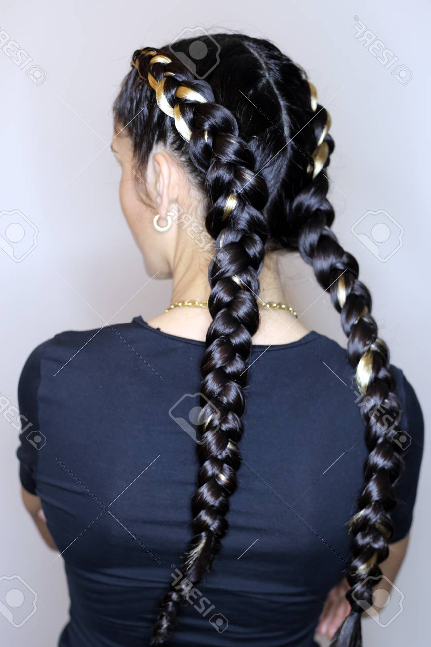 Designer Hairstyle Of Thick And Thin Braids, Youth Style, Master Within Well Known Thick And Thin Braided Hairstyles (View 12 of 20)
