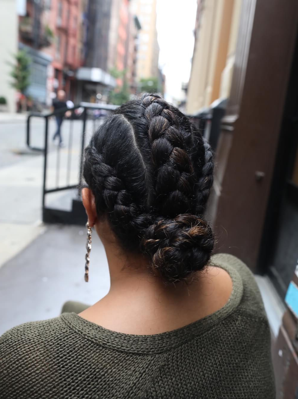 Devacurl 101: Different Ways On How To Braid Curly Hair Throughout Preferred Cornrows Tight Bun Under Braid Hairstyles (View 8 of 20)