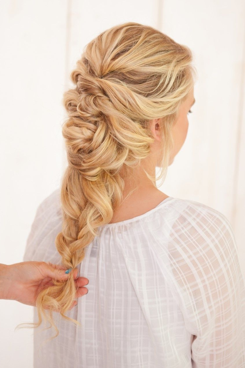 Diy Fancy French Twist Bridal Updo (View 5 of 20)