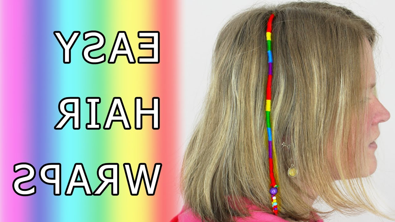 Diy Learn How To Make Hair Wrap (Wraps, Braid, Floss, Dread, Thead, Dreads,  Extension) Tutorial Regarding Current Braided Hairstyles With Beads And Wraps (View 5 of 20)
