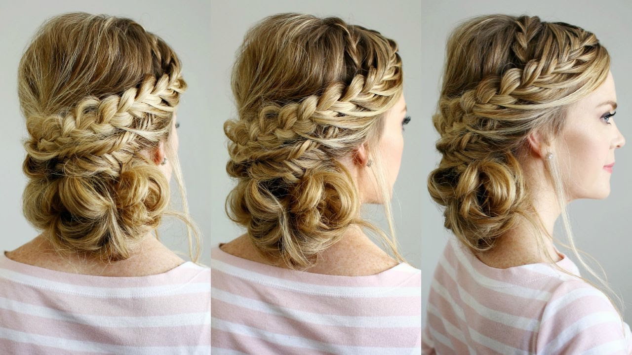 Double Braid Textured Updo In Preferred Double Crown Updo Braided Hairstyles (View 4 of 20)