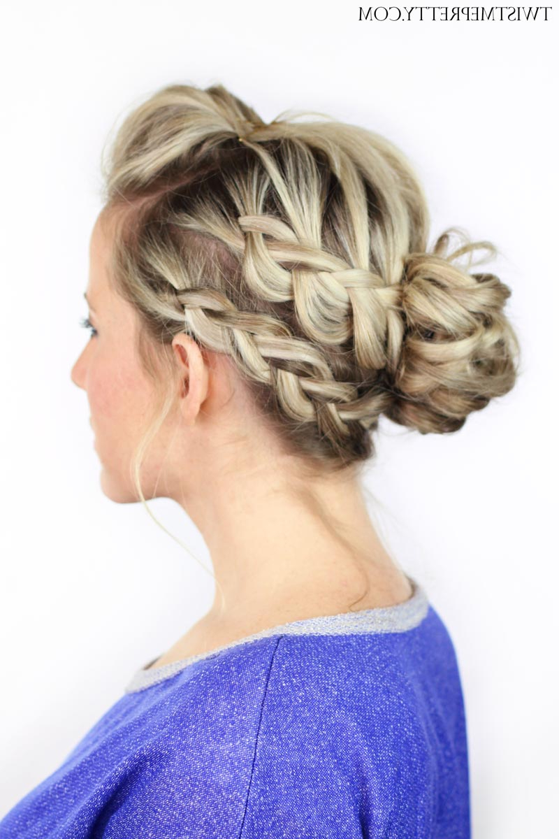 Double Braided Messy Bun – Twist Me Pretty Throughout Most Recent Messy Bun Hairstyles With Double Headband (Gallery 9 of 20)