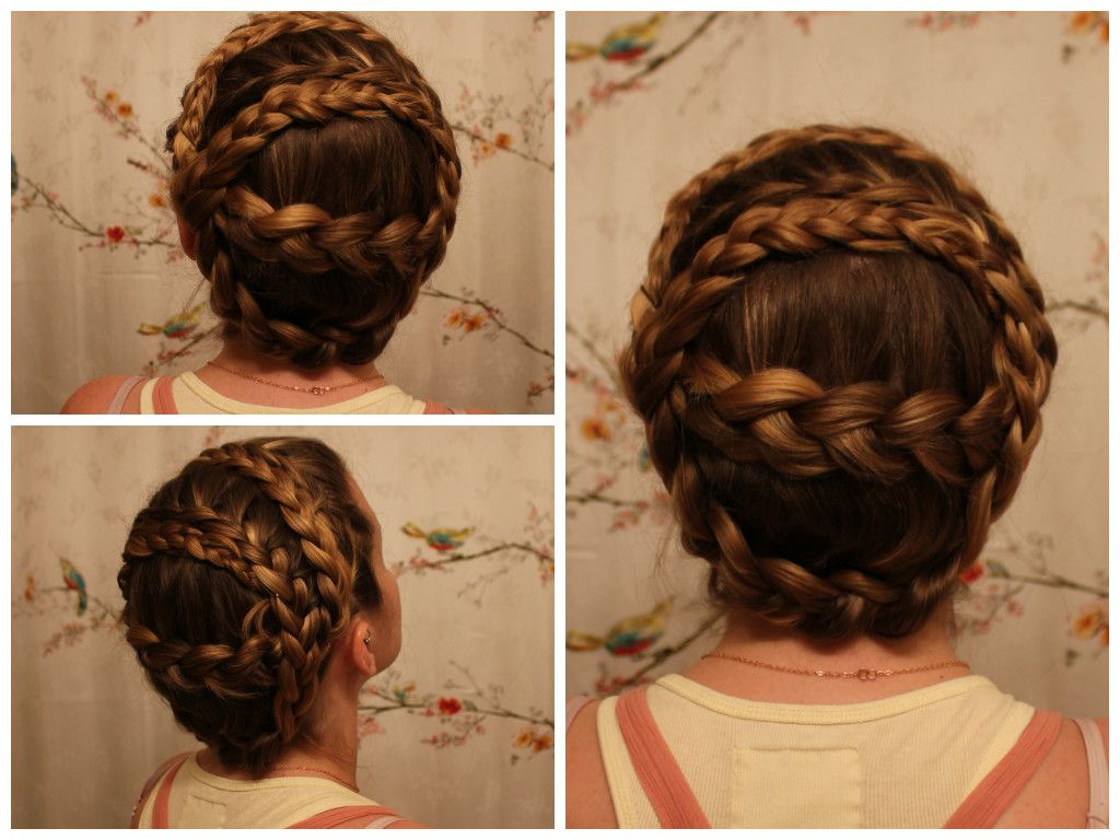 "Double, ""chain Link,"" Crown Braid (View 7 of 20)"