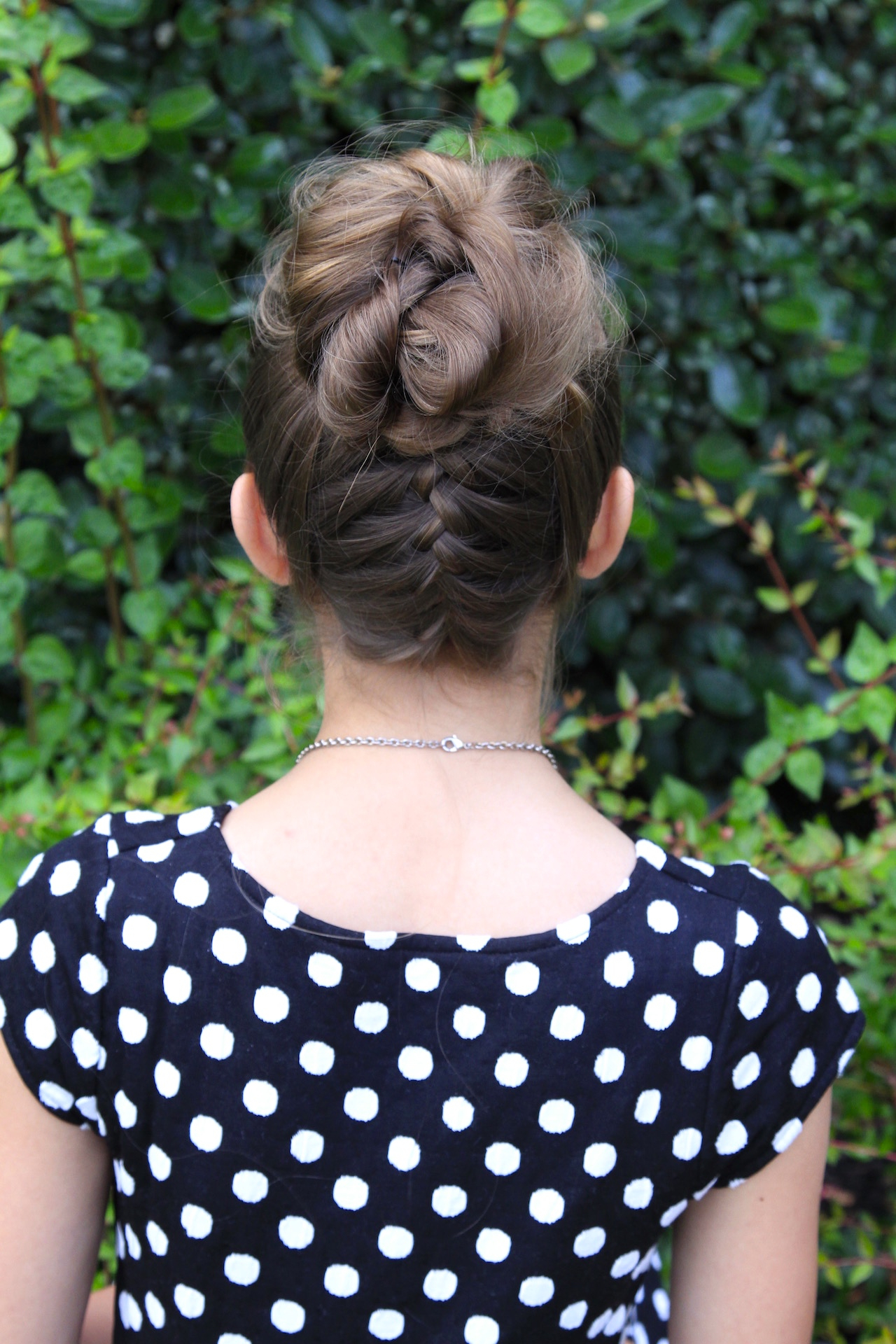 Double French Messy Bun Updo (View 6 of 20)