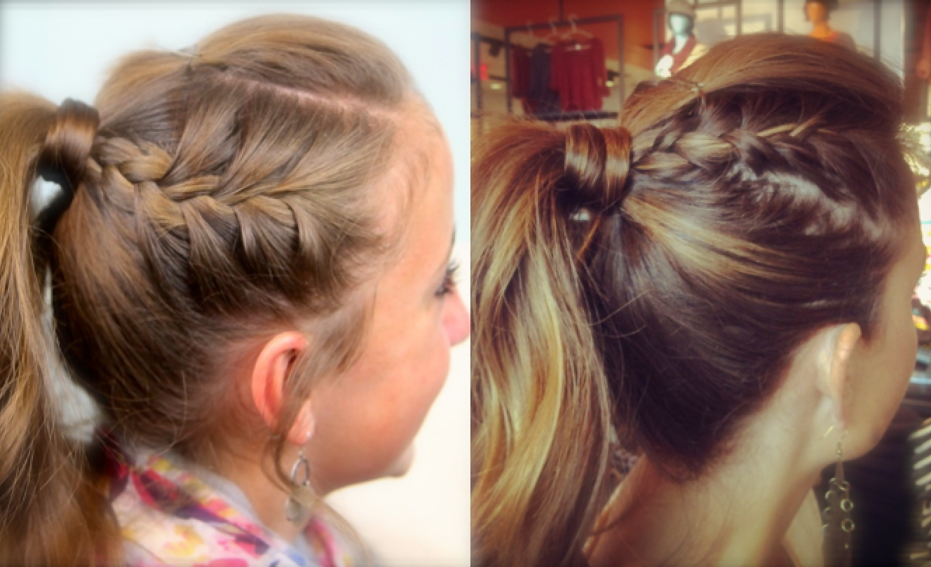 Double Frenchbacks Into High Pony (View 7 of 20)