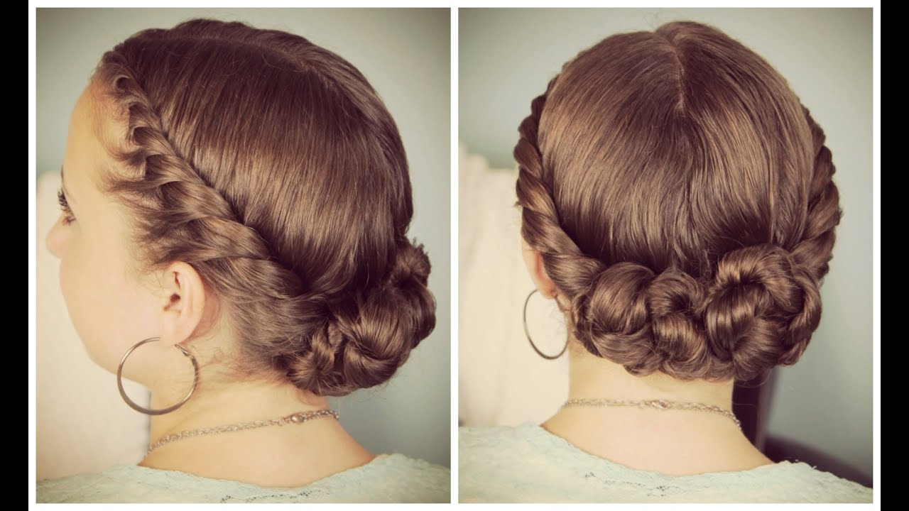 Double Twist Bun Updo For Favorite Double Twist Bun Updo Hairstyles (View 1 of 20)