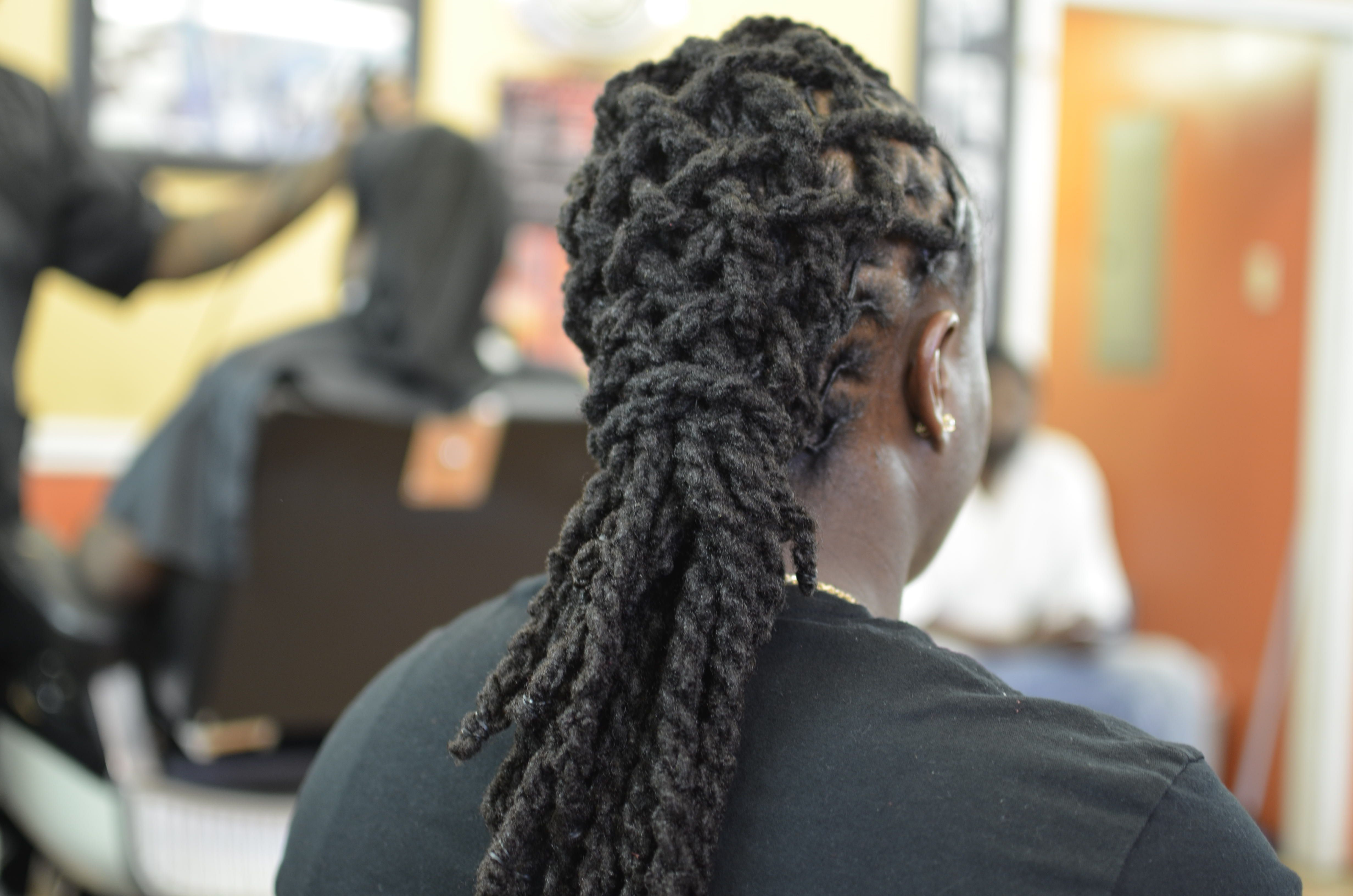 Dreadlock Styles Double Strand , Two Strand Twist In A Throughout 2019 Tightly Coiled Gray Dreads Bun Hairstyles (View 4 of 20)