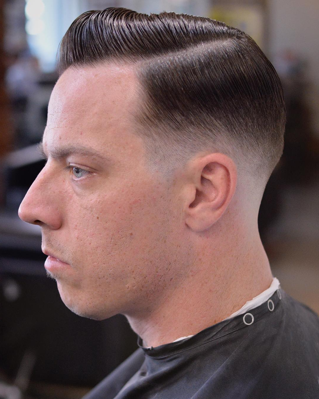 Drop Fade Side Part, Faded Down To Skin – Menhairdos With Regard To Latest Simple Side Part Hairstyles (View 9 of 20)