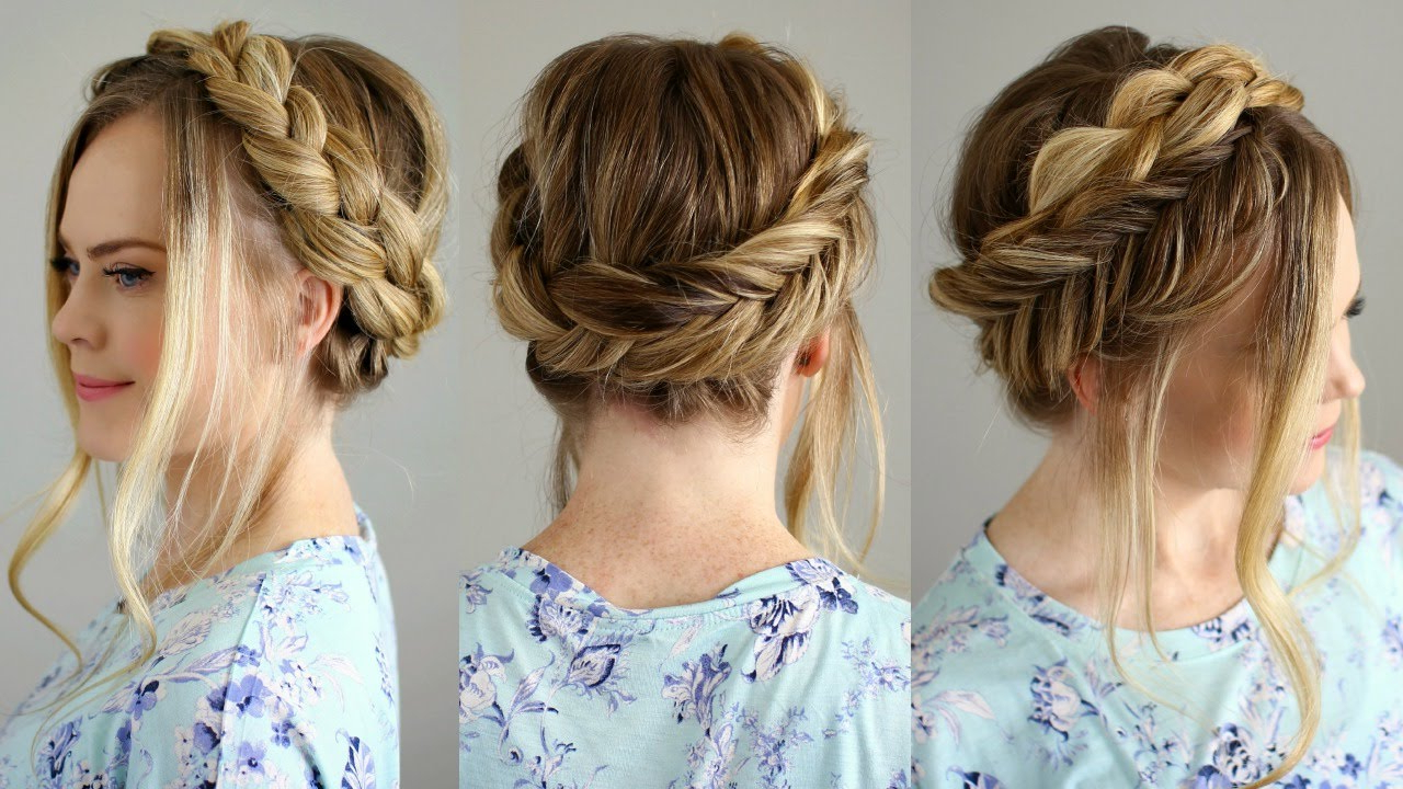 Dutch And Fishtail Crown Braid Within Most Recent Double Crown Updo Braided Hairstyles (View 9 of 20)