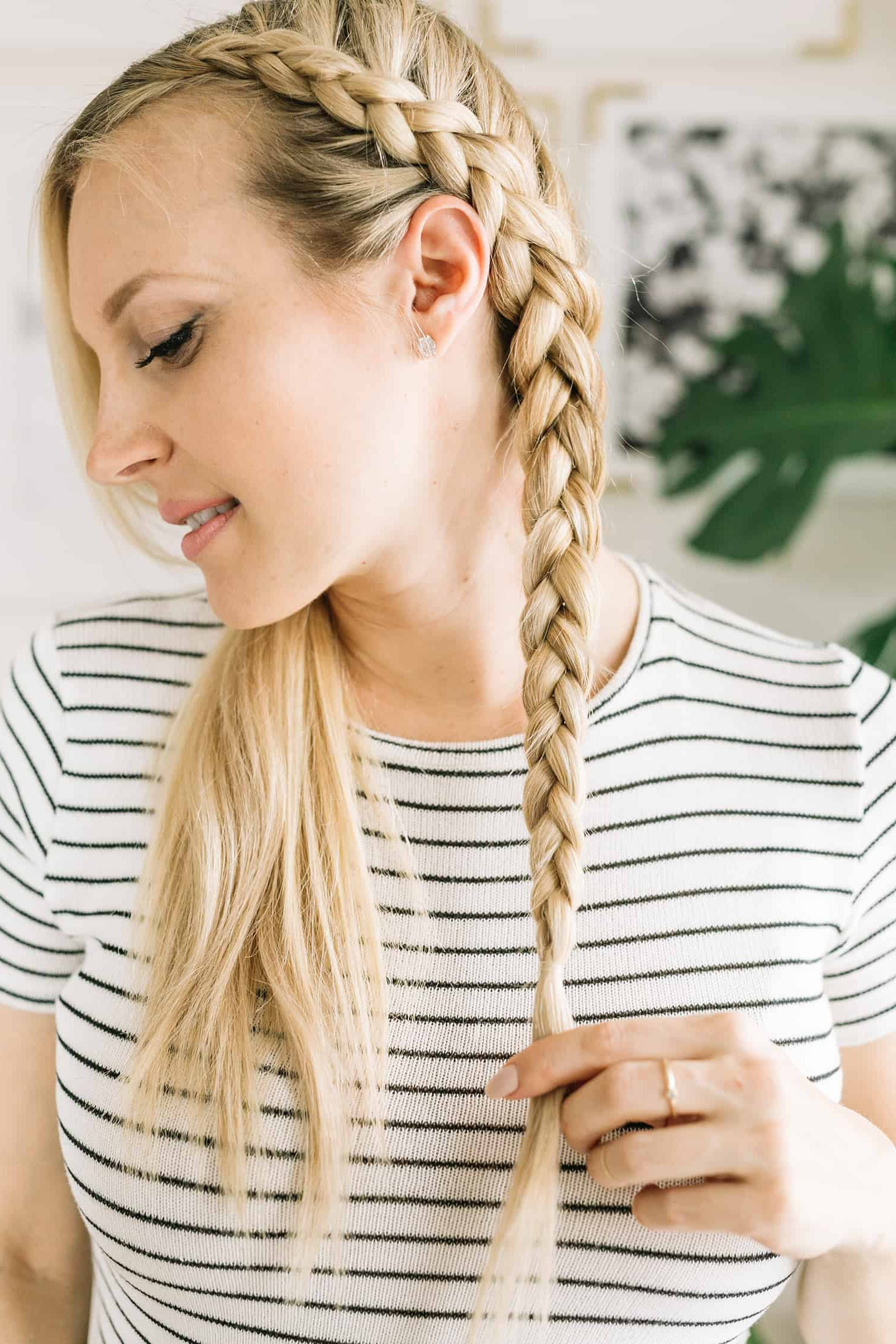 Dutch Braid Tutorial – A Beautiful Mess Inside Most Recent All Over Braided Hairstyles (View 11 of 20)