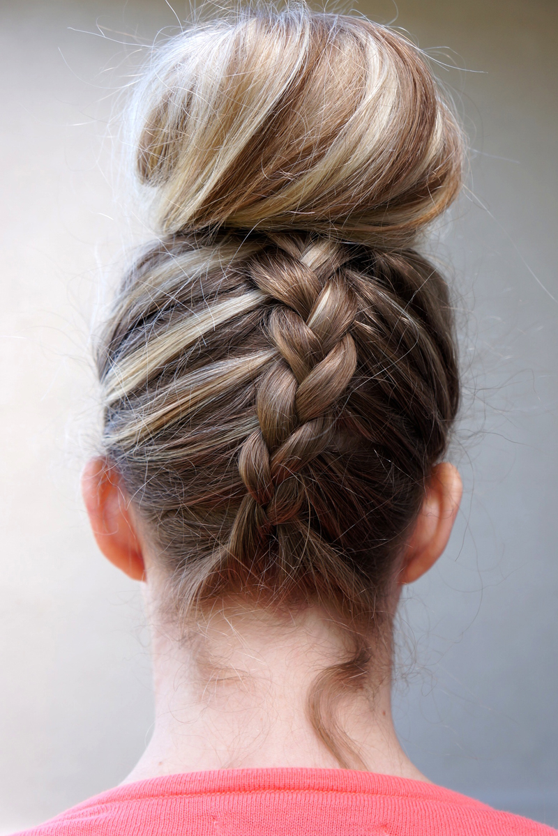 Dutch Braided Top Knot – Twist Me Pretty Intended For 2019 Topknot Ponytail Braided Hairstyles (View 6 of 20)