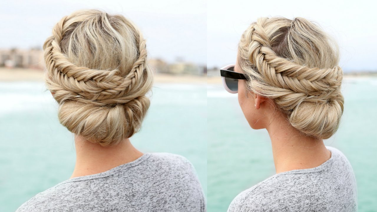Dutch Fishtail Braided Updo In Famous Fishtail Braid Updo Hairstyles (View 4 of 20)