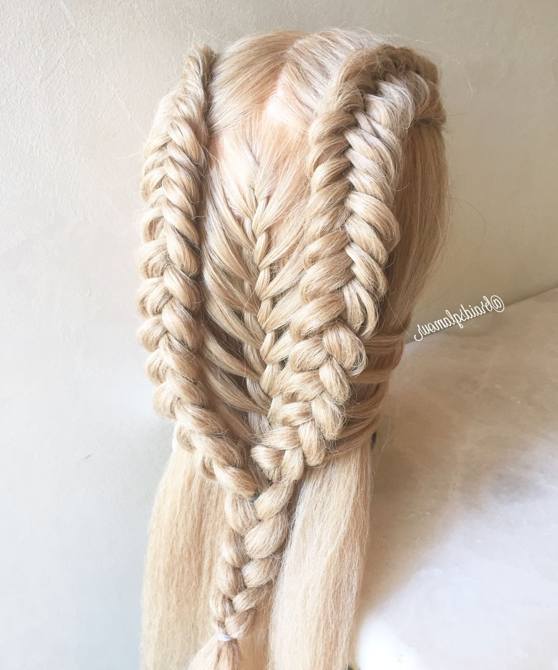 Dutch Fishtail/mermaid Braids Combo (View 14 of 20)