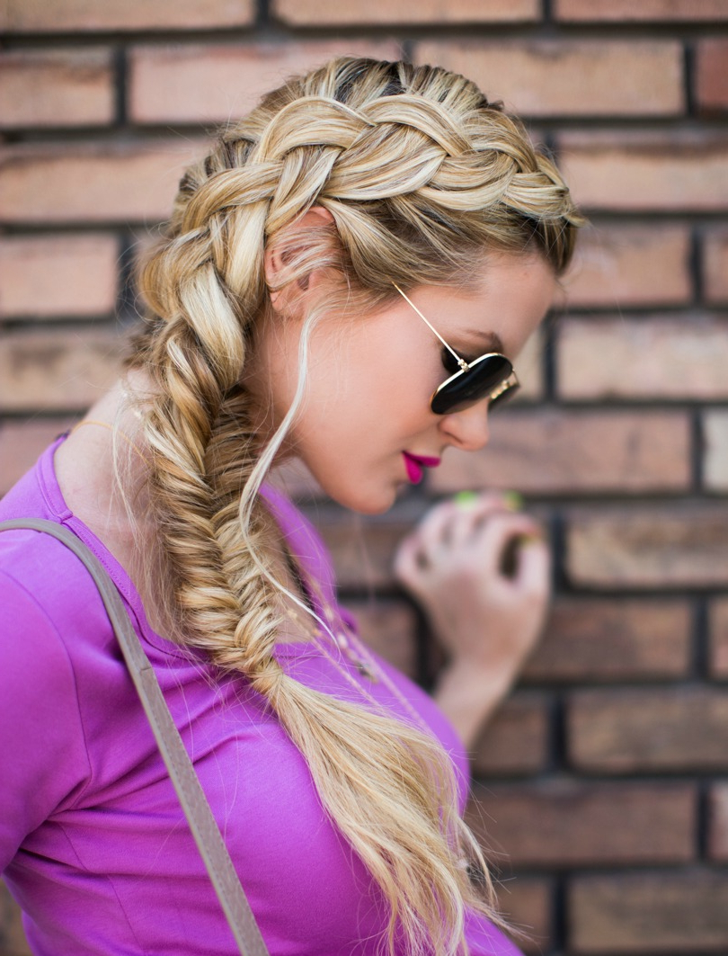 Dutch Turned Fishtail Braid – Barefoot Blondeamber Throughout Newest Elegant Blonde Mermaid Braid Hairstyles (Gallery 16 of 20)