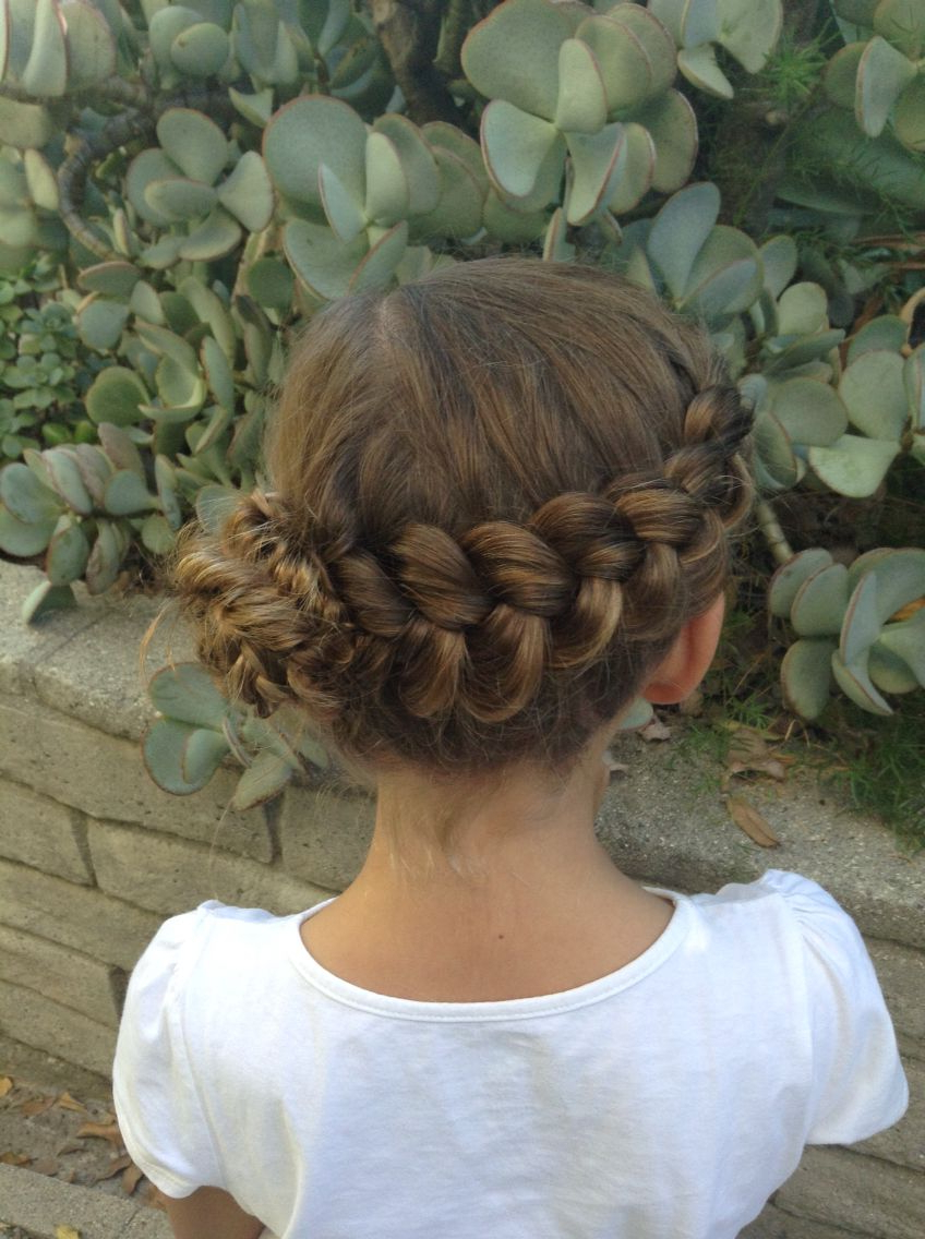Dutch Wrap Around Braid To Messy Fishtail Bun With Accent Within Most Current Wrapping Fishtail Braided Hairstyles (View 7 of 20)