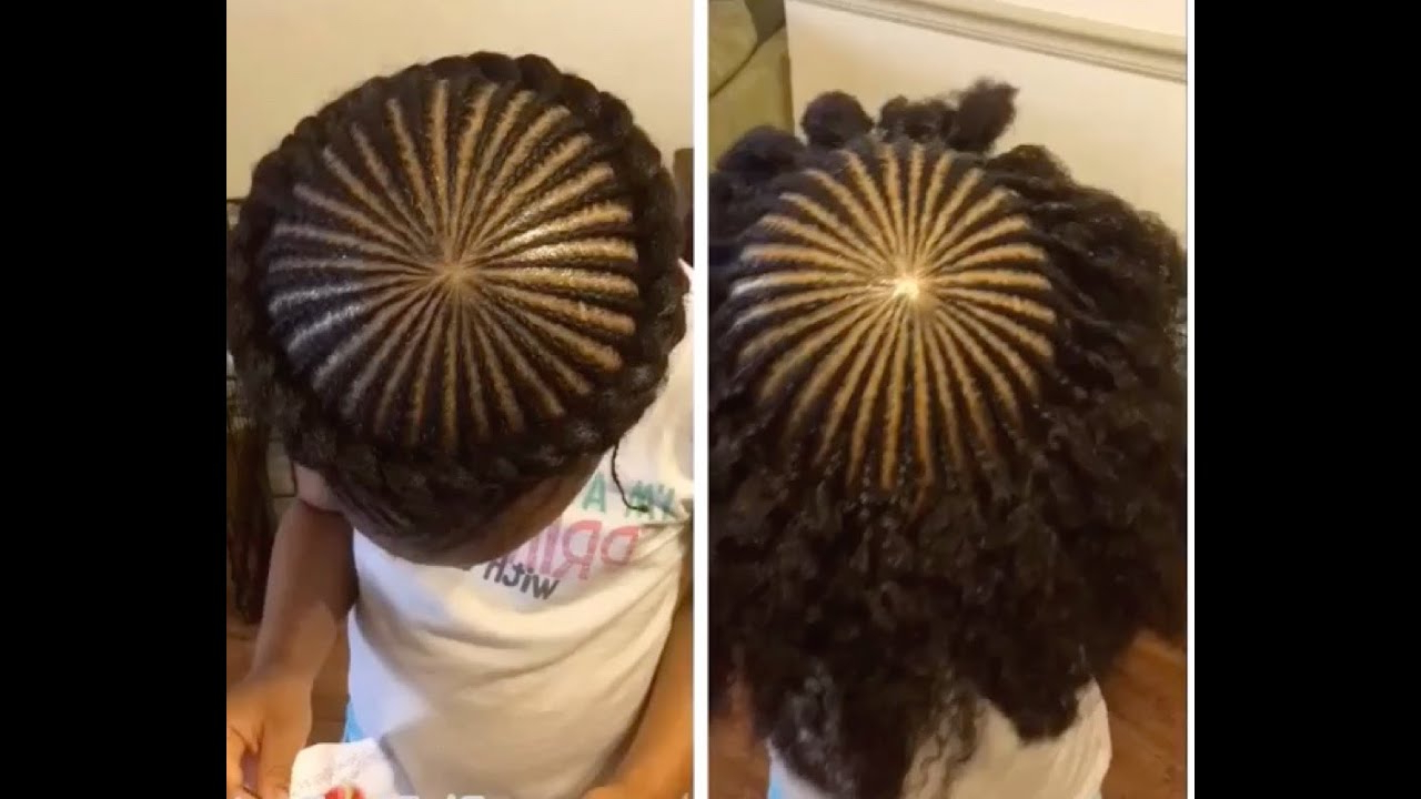 ♡ Tnc – 33 ♡ Halo/crown Braid On Kids Natural Hair With Regard To Preferred Crown Cornrow Braided Hairstyles (View 1 of 20)