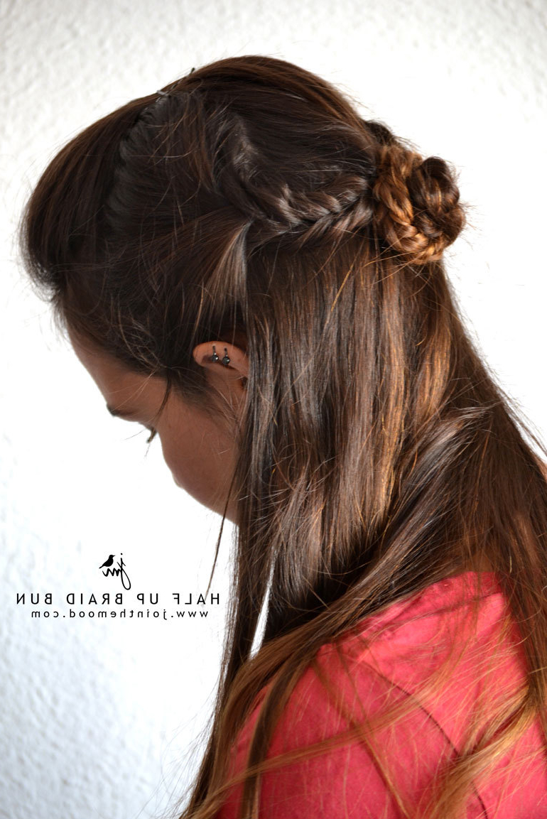 Easy Half Up, Half Down Hairstyles To Rock For Any Occasion Inside Well Known Pretty Pinned Back Half Updo Braids (Gallery 20 of 20)