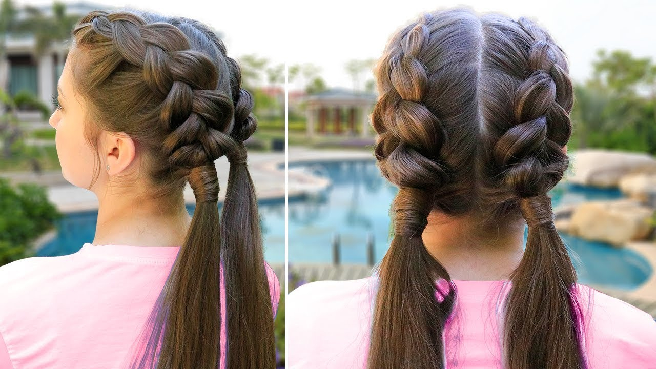 Easy School Hair With Famous Secured Wrapping Braided Hairstyles (View 6 of 20)