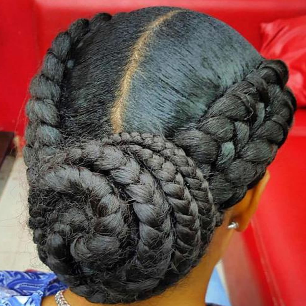 Featured Photo of Extra Thick Braided Bun Hairstyles