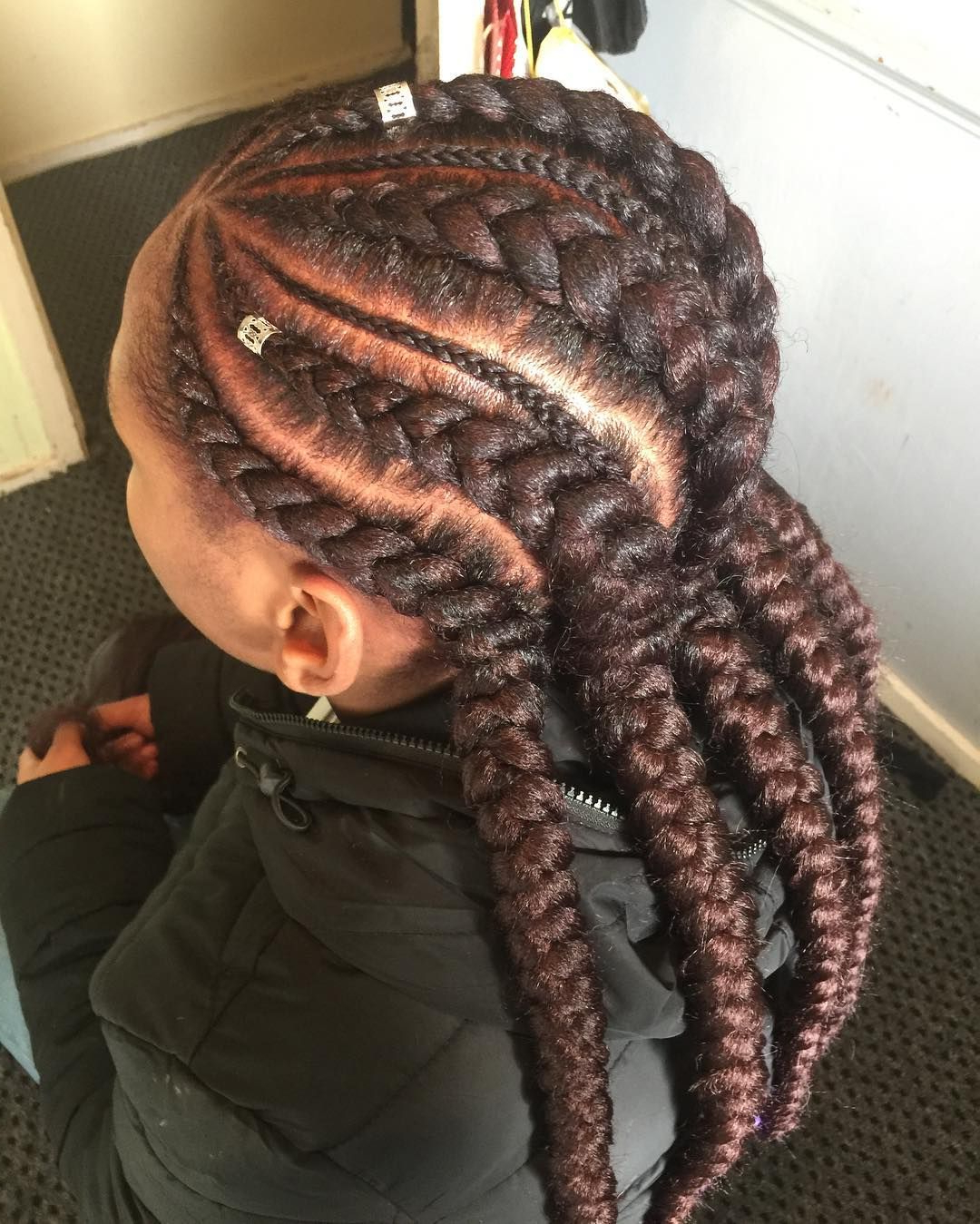 "Famous Angled Cornrows Hairstyles With Braided Parts With South London Braider 💆🏾🌺🌴 On Instagram: ""angled Feed Ins (View 11 of 20)"