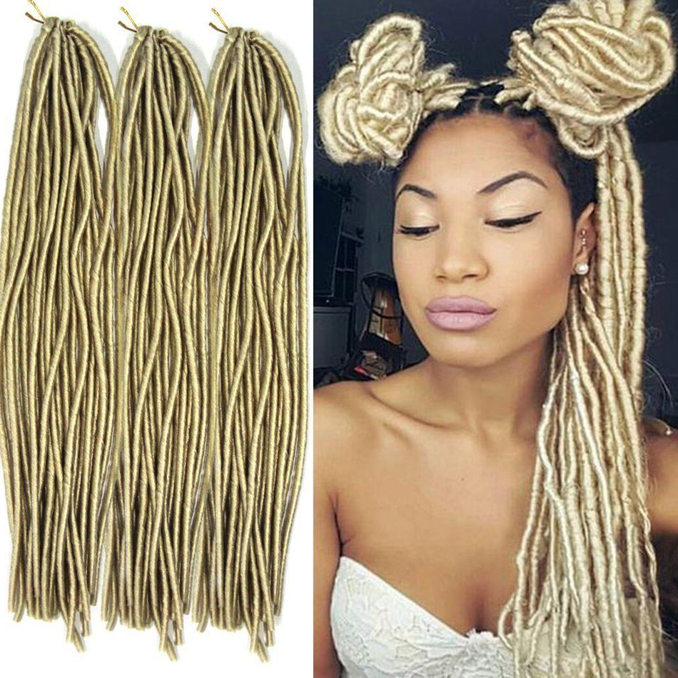 Famous Blonde Faux Locs Hairstyles With Braided Crown In Blonde Faux Locs Synthetic Twist Braids Fiber Crochet Hair (View 2 of 20)