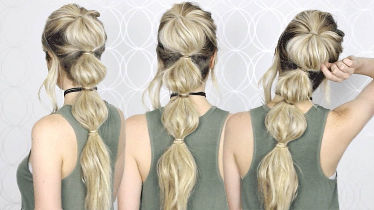 Famous Bubble Pony Updo Hairstyles Within How To: Easy Bubble Ponytail (View 3 of 20)