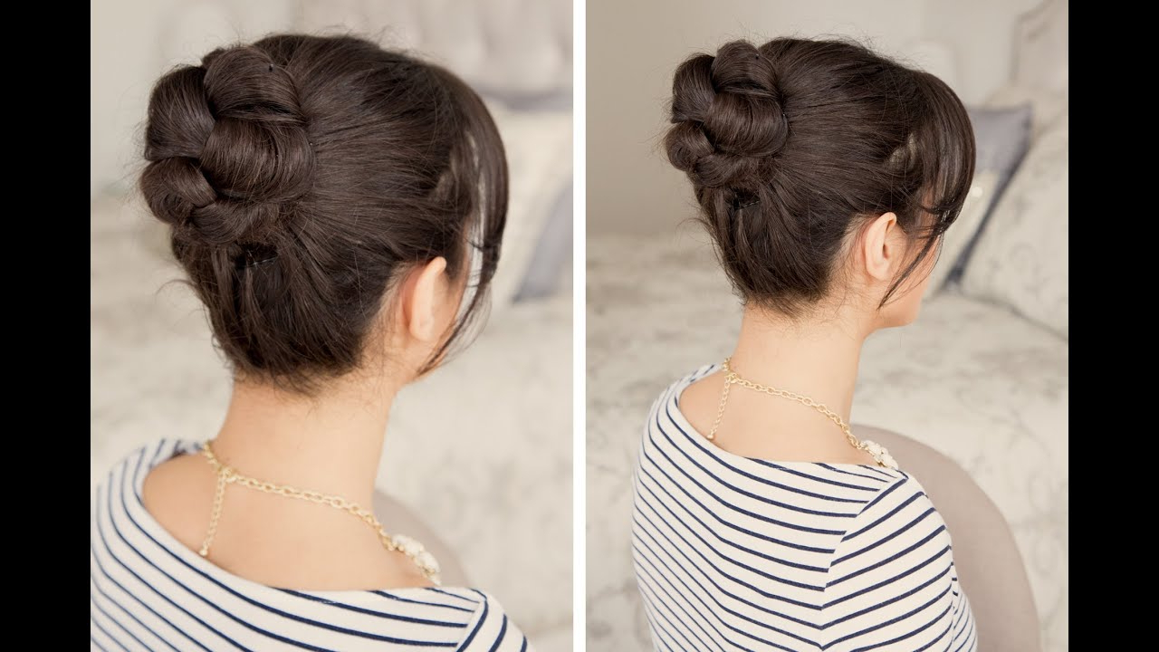 Famous Cinnamon Bun Braided Hairstyles In How To: Braided Bun Hair Tutorial (View 9 of 20)