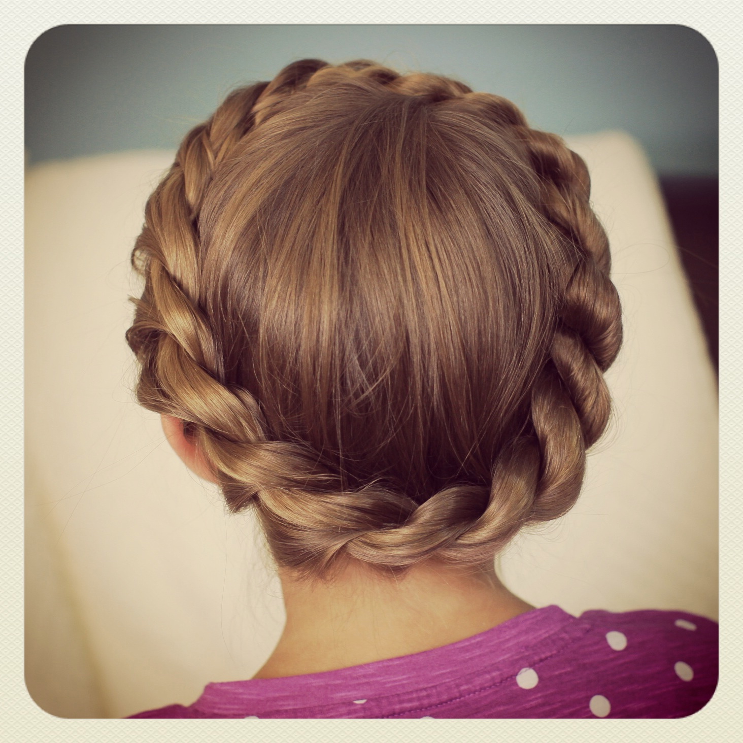 Famous Crown Braid Updo Hairstyles Intended For Crown Rope Twist Braid (View 18 of 20)