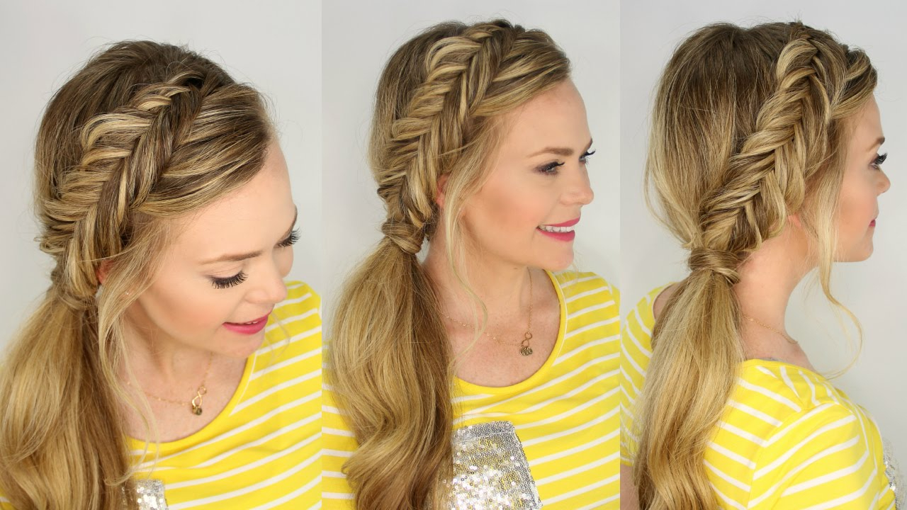 Famous Fishtail Side Braided Hairstyles Inside Dutch Fishtail Side Pony (View 13 of 20)