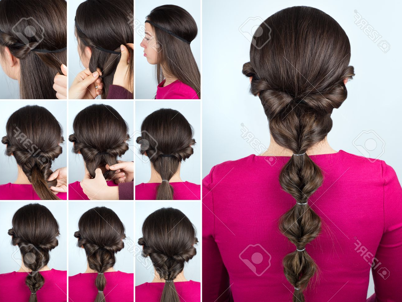 Famous Grecian Inspired Ponytail Braided Hairstyles Regarding Simple Greek Hairstyle Twisted Ponytail Tutorial. Hairstyle Tutorial. (View 13 of 20)