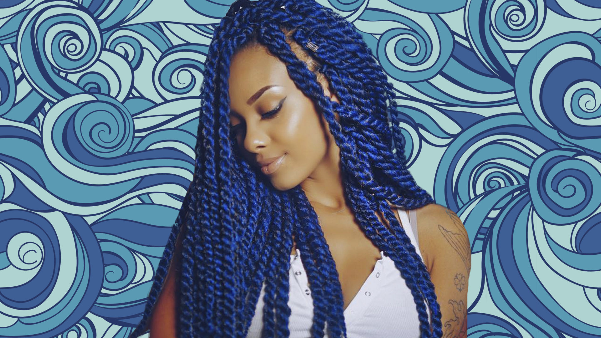 Famous Long Braids With Blue And Pink Yarn Pertaining To Yarn Twists Inspiration – Essence (View 7 of 20)