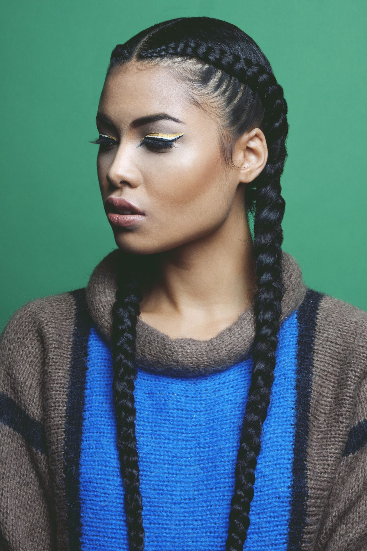 [%famous Long Hairstyles With Multiple Braids Intended For 8 Big Corn Row Styles We Are Loving On Pinterest [gallery|8 Big Corn Row Styles We Are Loving On Pinterest [gallery In Well Liked Long Hairstyles With Multiple Braids%] (View 2 of 20)